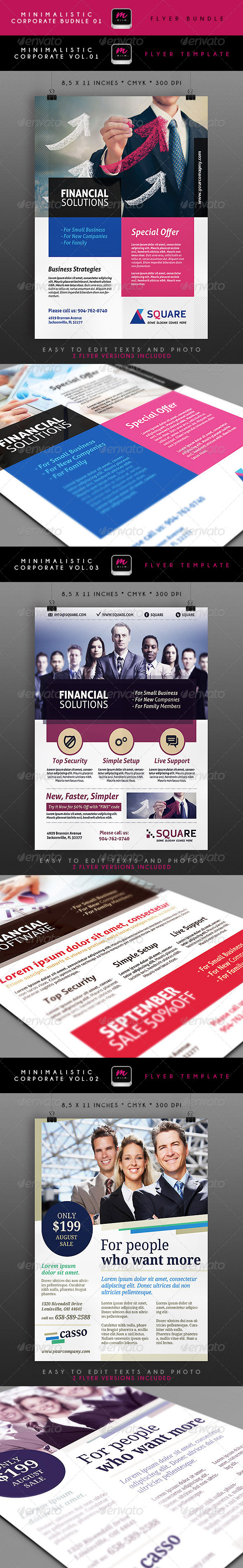 GraphicRiver Minimalistic Corporate Flyers Bundle 1 5388593
