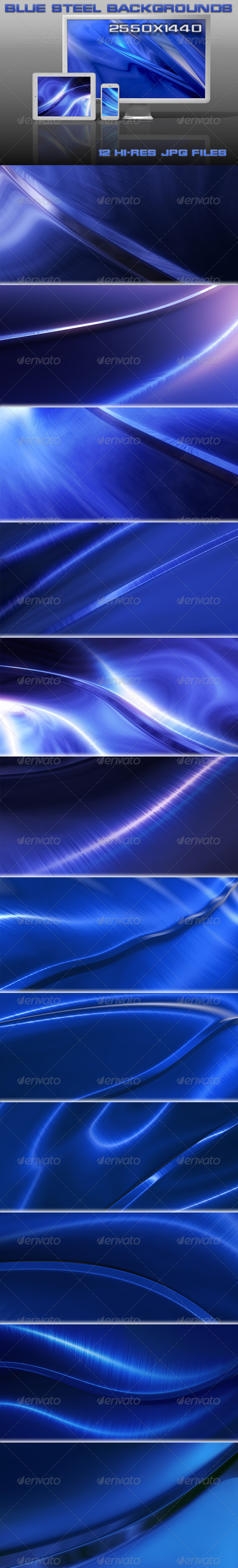 GraphicRiver Blue Steel Backgrounds 5344950