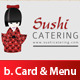 Sushi Business card &amp;amp; menu brochure Set Premium - GraphicRiver Item for Sale