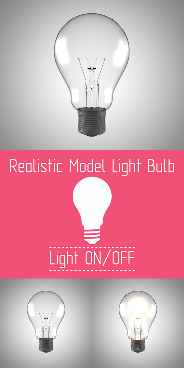 3DOcean Realistic Model Light Bulb with Render Setup 5389495