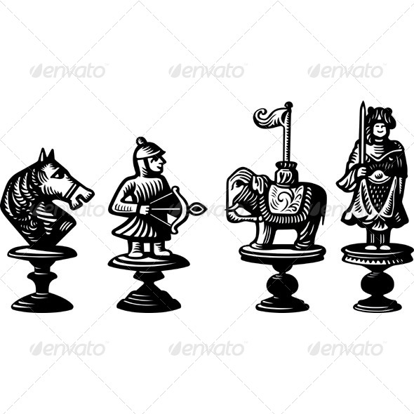 GraphicRiver Old Chessmen 5389971