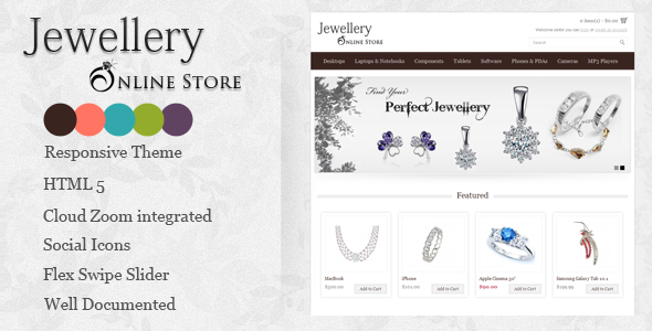 Jewellery Online Store - Fashion OpenCart