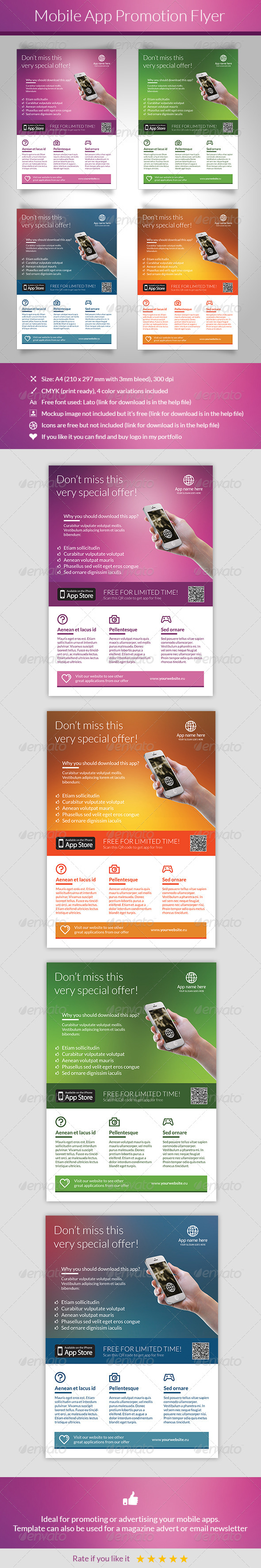 GraphicRiver Mobile App Promotion Flyer 5390038