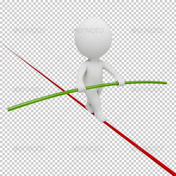 GraphicRiver 3D small people acrobat 5390062
