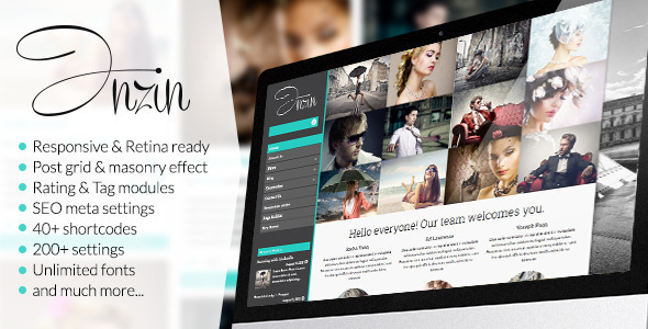 ThemeForest Inzin Responsive Blog WordPress Theme 5349239
