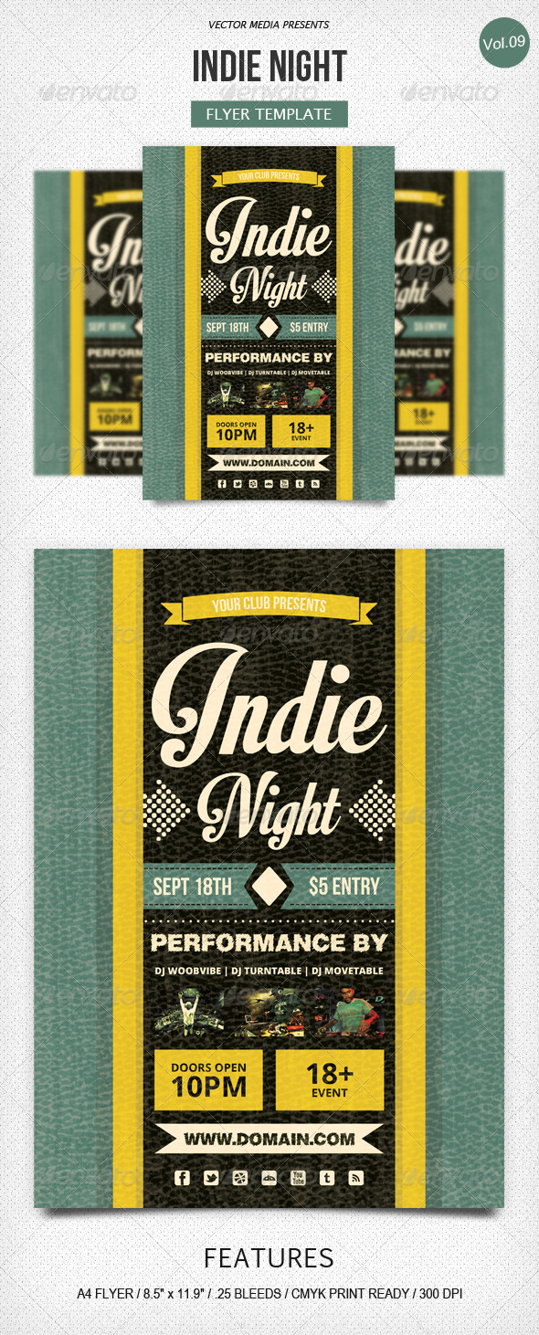 GraphicRiver Indie Night Flyer [Vol.9] 5390635