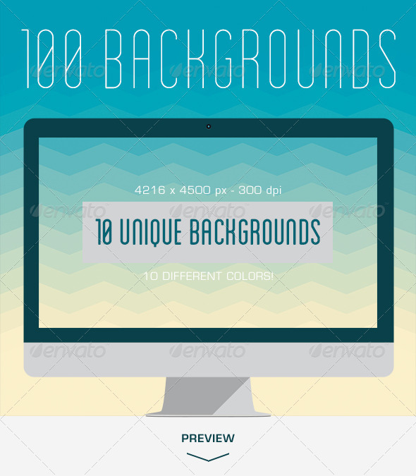 GraphicRiver 100 Wavy Triangles Backgrounds 5390744