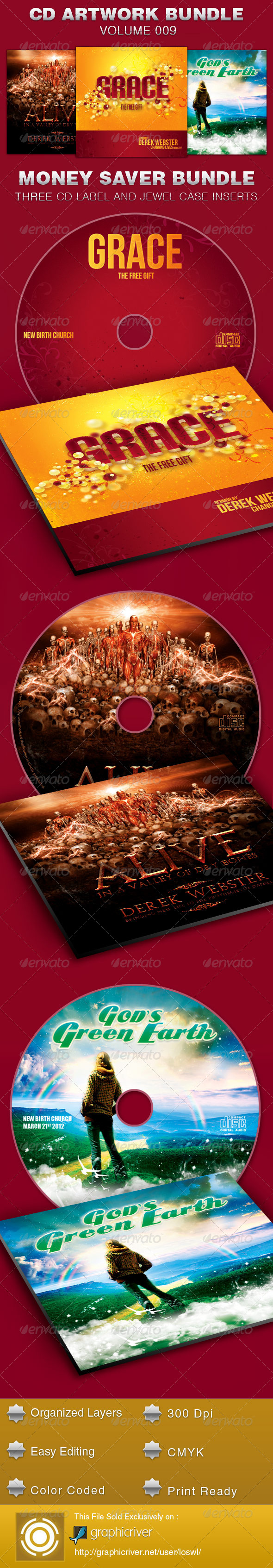 GraphicRiver CD Cover Artwork Template Bundle-Vol 009 5391694