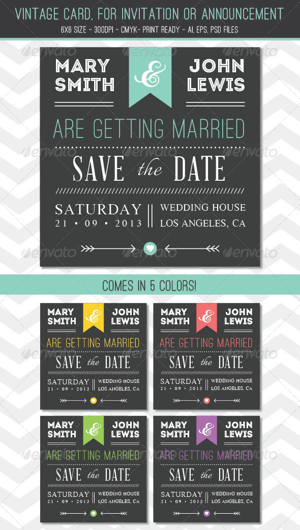 GraphicRiver Vintage card for Invitation or Announcement 5315731