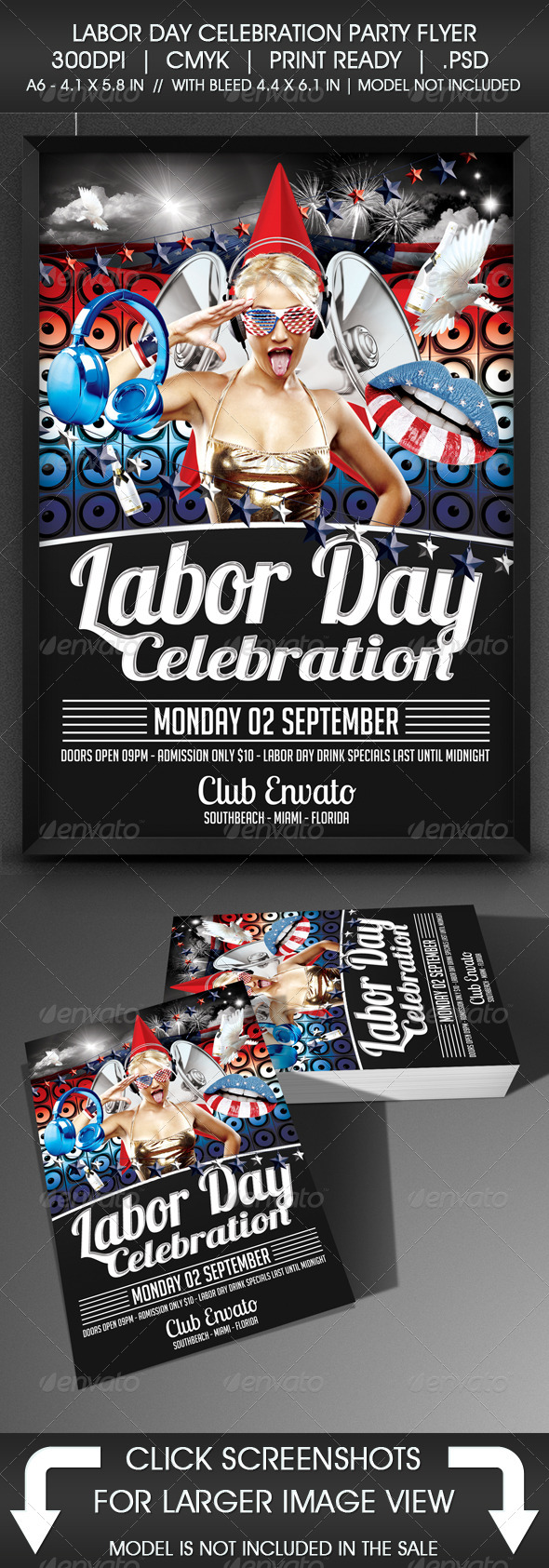 GraphicRiver Labor Day Party Flyer 5351781