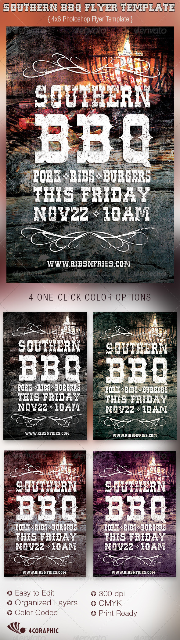 Southern BBQ Flyer Template - Events Flyers
