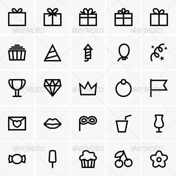 GraphicRiver Celebration Icons 5392990