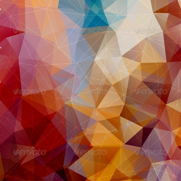 GraphicRiver Abstract Triangle Background 5393382