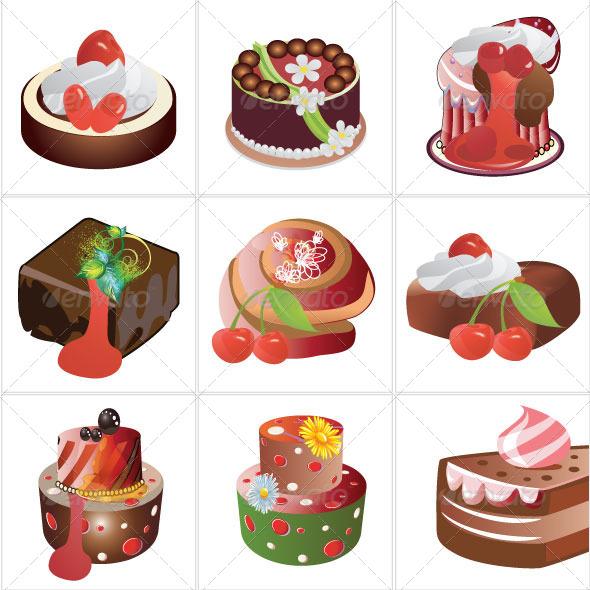 GraphicRiver Cakes Design 5393421