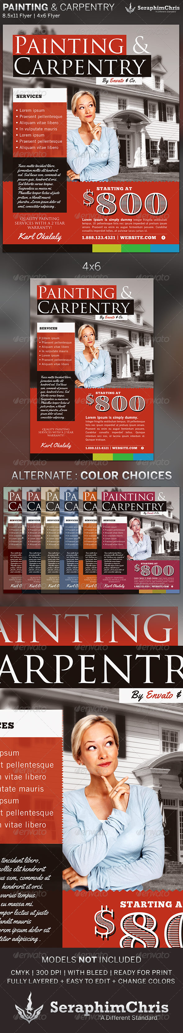GraphicRiver Painting & Carpentry Flyer Template 5393463