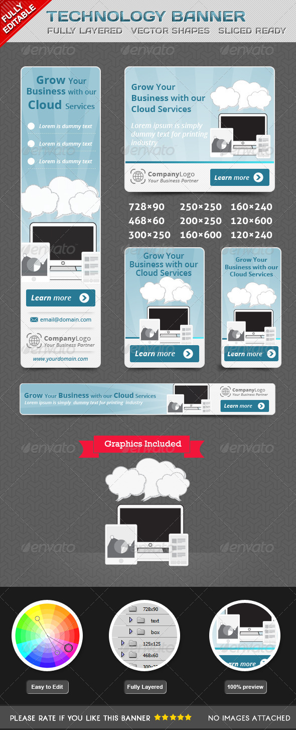 GraphicRiver Technology Banner 5393495