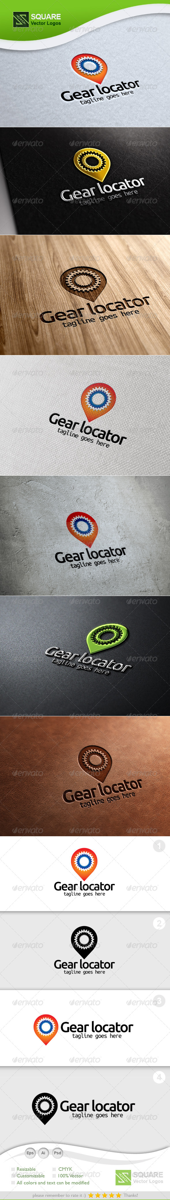 GraphicRiver Gear Locator Vector Logo Template 5393595