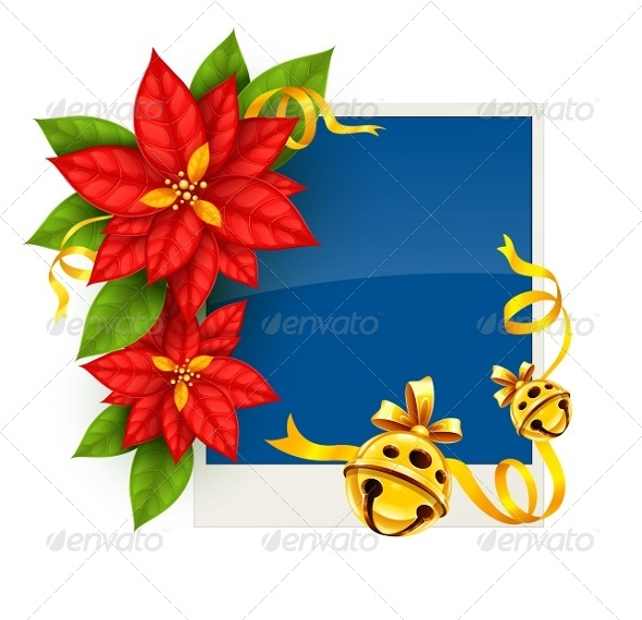 GraphicRiver Christmas Greeting Card with Poinsettia Flowers 5394286
