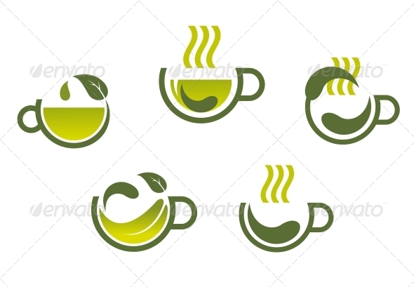 GraphicRiver Herbal Tea Symbols 5395034