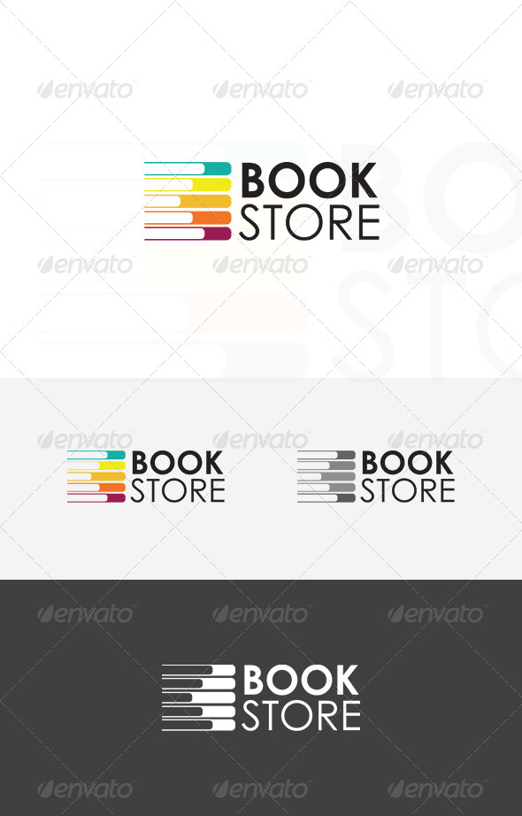 GraphicRiver Book Store Logo 5395060