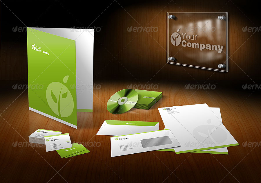 New 3D Stationary Mockup