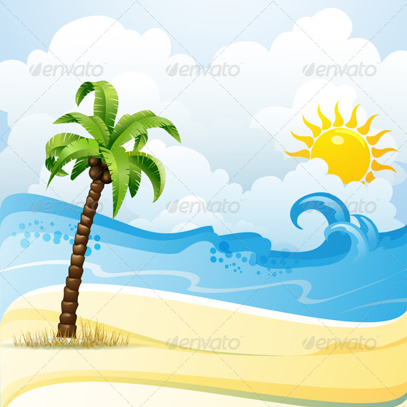 GraphicRiver Summer Beach 5395937