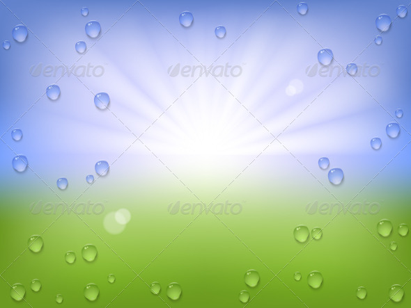 GraphicRiver Season Water Drops Background 5396124
