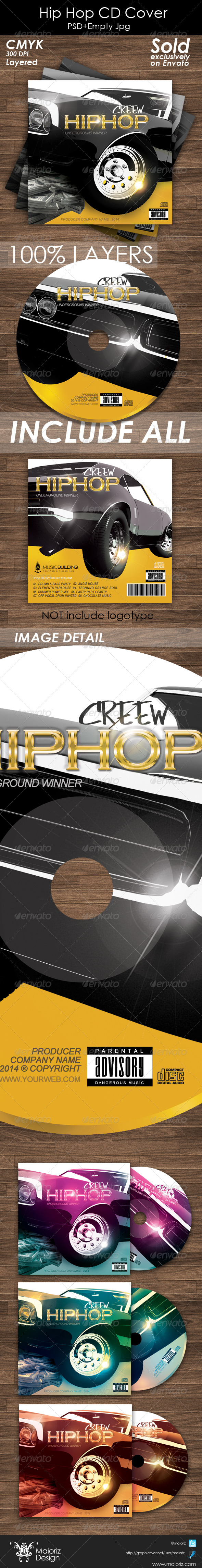 Hip Hop Cd Cover Artwork - CD & DVD artwork Print Templates