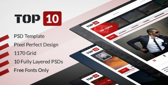 TOP 10 - Multimedia Tube (PSD) - Entertainment PSD Templates
