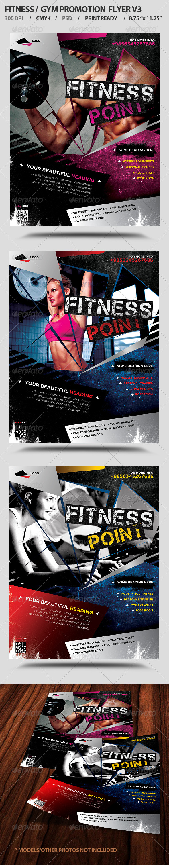 GraphicRiver Fitness Gym Business Promotion Flyer V3 5397833