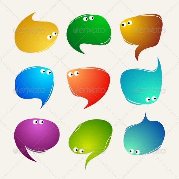 GraphicRiver Speak Bubbles Vector 5398146
