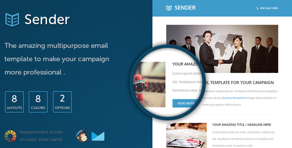 ThemeForest Sender Responsive Email Template 5399662