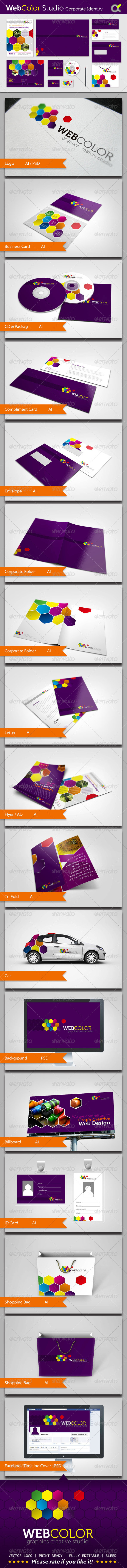 WebColor Studio Corporate Identity - Stationery Print Templates