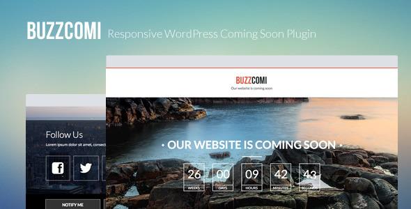 CodeCanyon BuzzComi Responsive WordPress Coming Soon Plugin 5401757