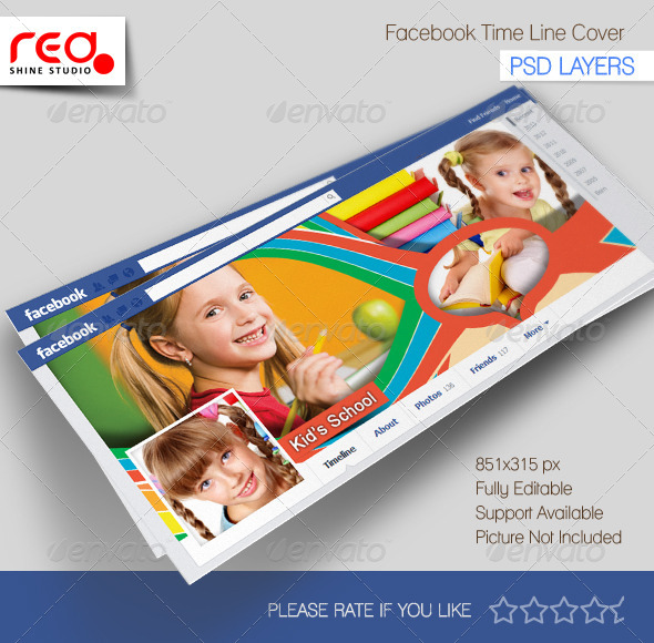 GraphicRiver Kid s School Facebook Timeline 5402382