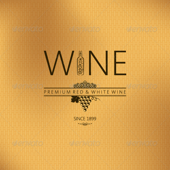 GraphicRiver vintage wine background 5402435