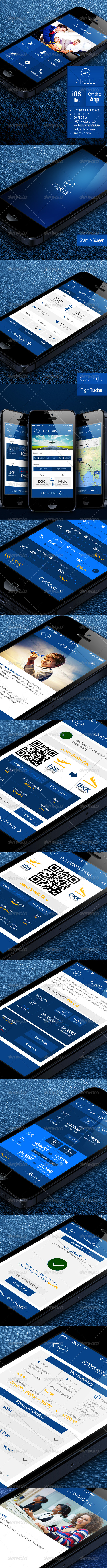 GraphicRiver AirBlue Flight Ticket Booking App 5402500