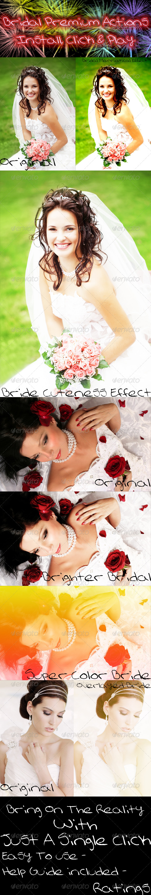 Bridal Premium Actions - Photo Effects Actions