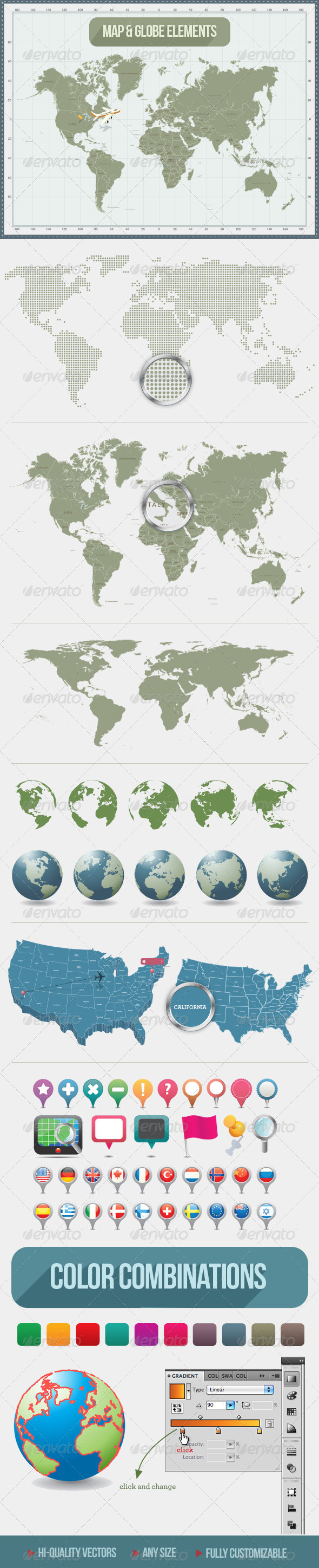 World Maps & Globes - Miscellaneous Conceptual