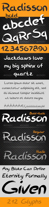 GraphicRiver Radisson Font 5403674