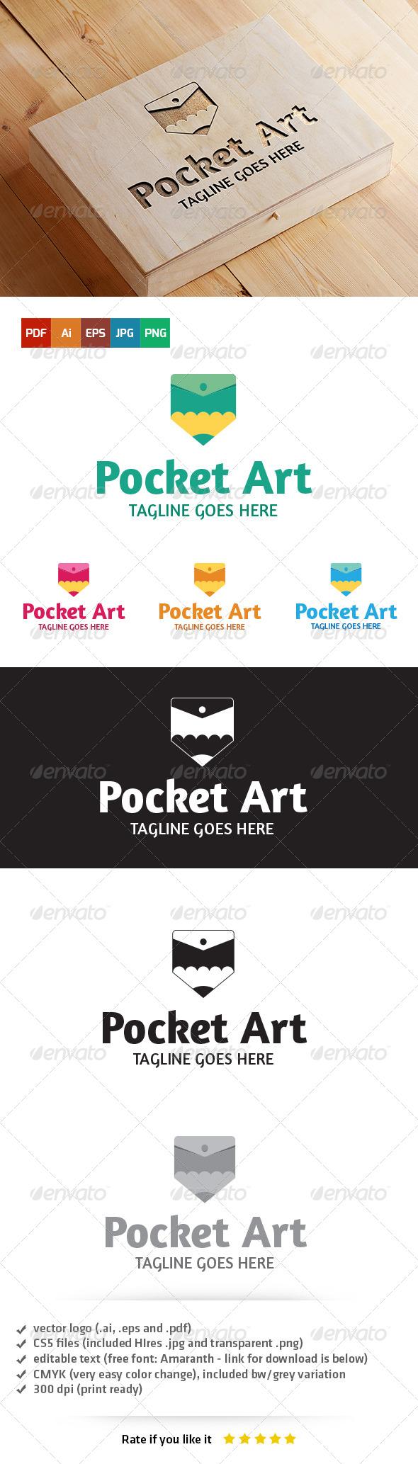 GraphicRiver Pocket Art Logo 5403771