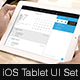 iOS Tablet Flat UI Set Vol. 1 - GraphicRiver Item for Sale