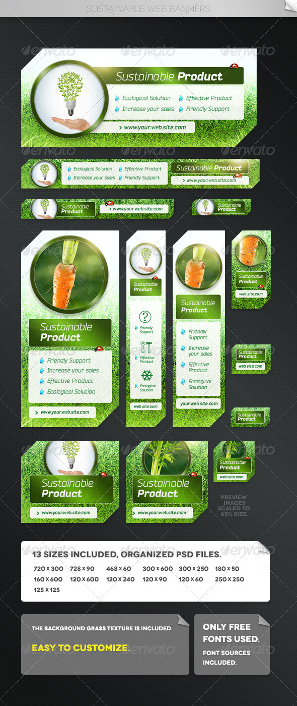 GraphicRiver Sustainable Web Banner Templates 5404193