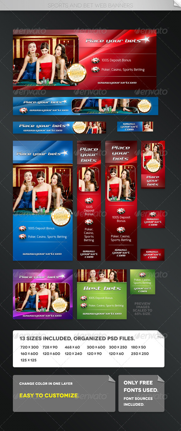 GraphicRiver Sports and Bet Web Banners 5404211