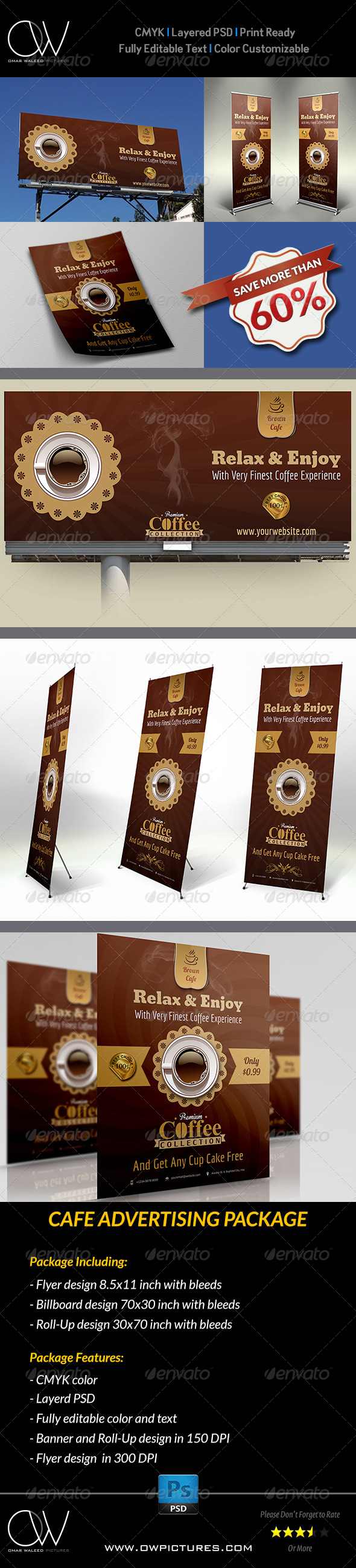 GraphicRiver Cafe Coffee Shop Advertising Package 5404525