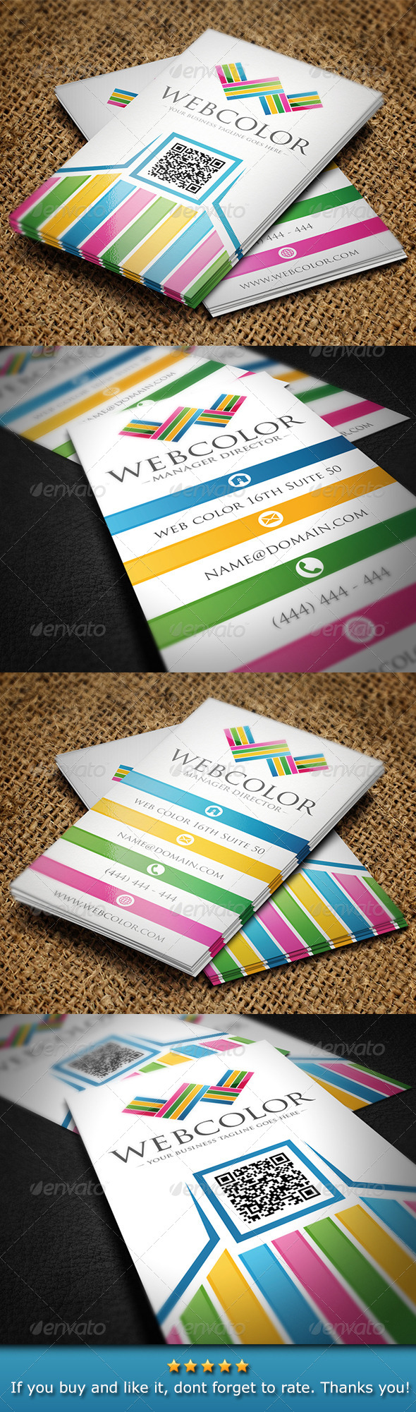 GraphicRiver Colorful Web Business Card 5404704