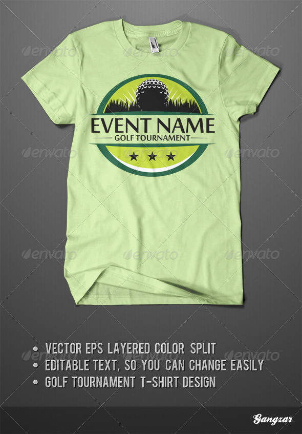 GraphicRiver Golf Tournament T-Shirt Design 5405000