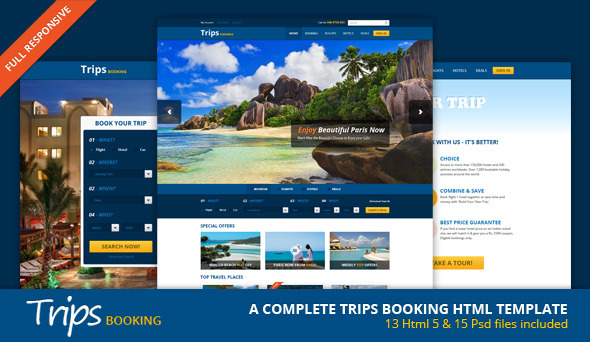 ThemeForest Trips Booking HTML5 Template 5391816