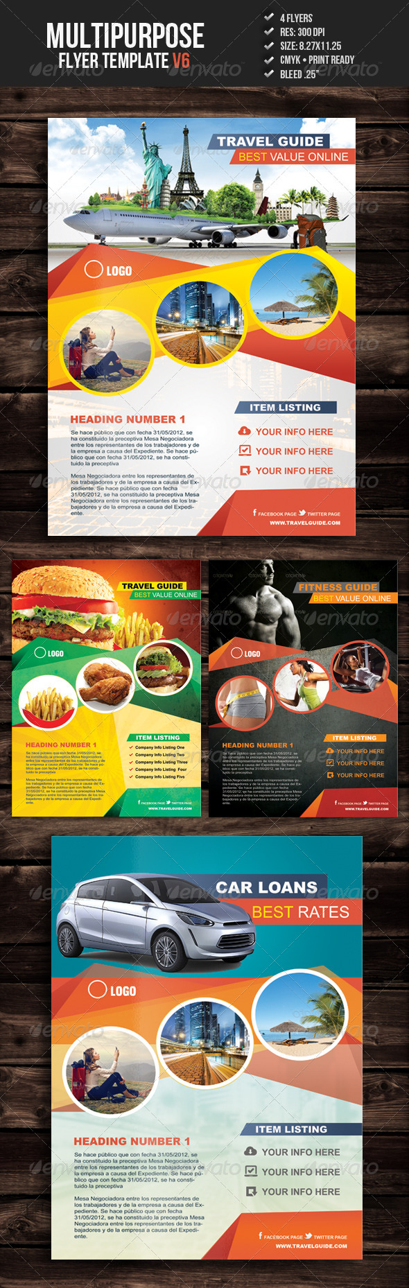 GraphicRiver Multipurpose Flyer Template V6 5375050