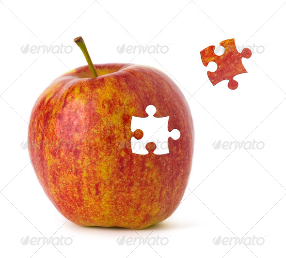 Puzzle Apple - Stock Photo - Images